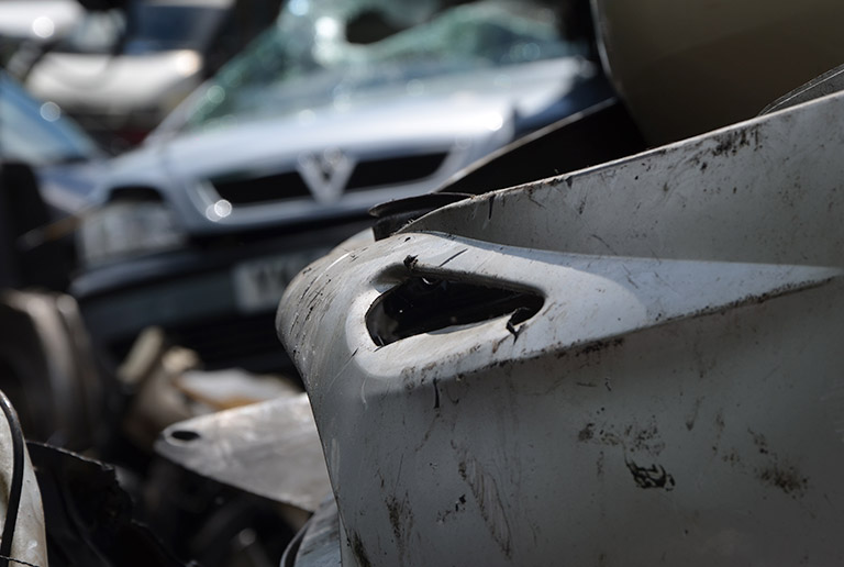 Close up of our rugby scrap yard